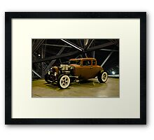 1932 Ford 5 Window Coupe 'Rusty But No Rat' Framed Print