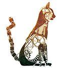 Steampunk Bronze Cat by Angelaook