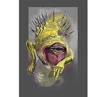 yellow worm Photographic Print