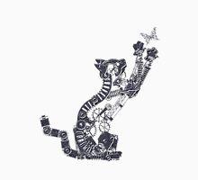 Steampunk Silver Kitten T-Shirt
