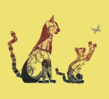 Steampunk bronze cat and kitten Kids Clothes