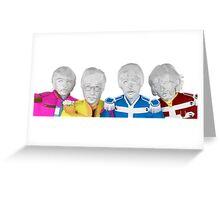 The Beatles - Geometric Art Greeting Card