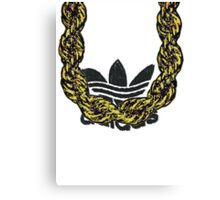 Old School Gold Rope Chain and classic logo 1 Canvas Print