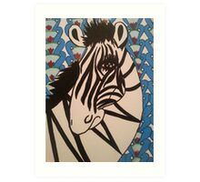 Ratchet Zebra Art Print