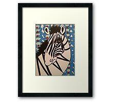 Ratchet Zebra Framed Print