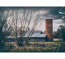 Barn Silo Photographic Print