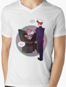 Cabinlock Mens V-Neck T-Shirt