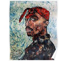 Tupac by vanGogh Poster