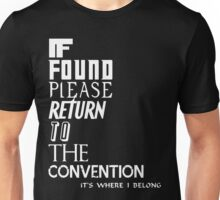 If found- white Unisex T-Shirt