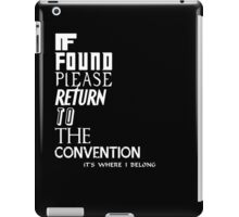 If found- white iPad Case/Skin