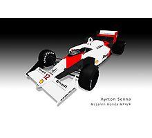 Ayrton Senna - McLaren MP4/4 Photographic Print