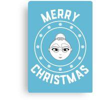 Mama's Merry Christmas Logo Canvas Print