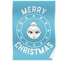 Mama's Merry Christmas Logo Poster