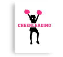 Cheerleading girl Canvas Print