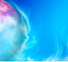 Beautiful Glowing Blue Alien Planet by pdgraphics