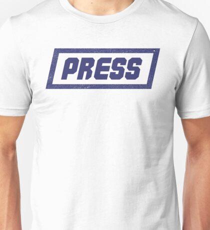 PRESS Blue - FrontLine Unisex T-Shirt