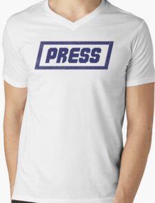 PRESS Blue - FrontLine Mens V-Neck T-Shirt