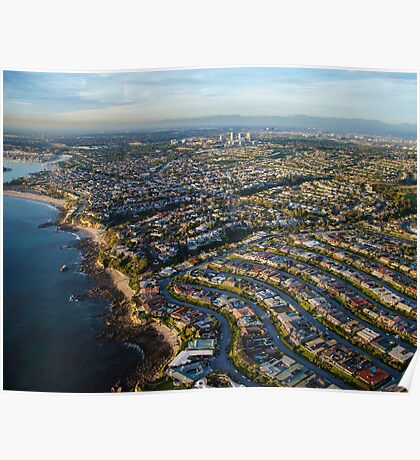 Newport Beach Aerial Photograph Poster