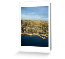 Aerial Newport Beach,California Greeting Card