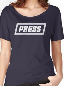 PRESS White - FrontLine Women's Relaxed Fit T-Shirt