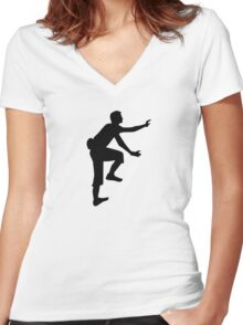 Climbing sports Women's Fitted V-Neck T-Shirt