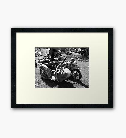 Gun carrying sidecar Framed Print