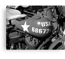 US army Motorcycle. Canvas Print