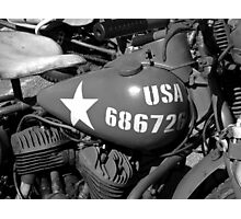 US army Motorcycle. Photographic Print