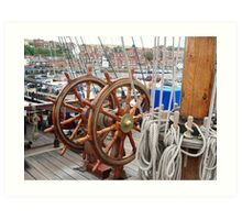 Grand Turk double ship's wheel Art Print
