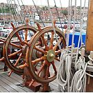 Grand Turk double ship's wheel by Woodie