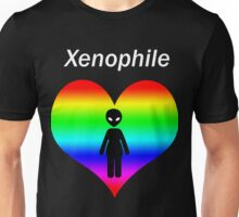 Xenophile - For Alien Lovers (Rainbow) Unisex T-Shirt