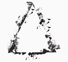 Ink Splatter Triangle - Black by clarkeface