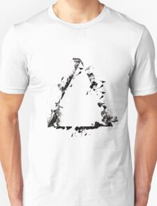 Ink Splatter Triangle - Black T-Shirt