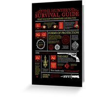 The Hunters Survival Guide Greeting Card
