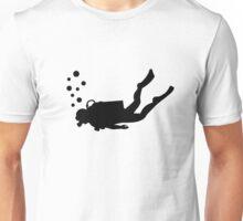 Scuba diver bubbles Unisex T-Shirt