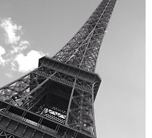 Black and white Eiffel Tower 2 by Elysialily