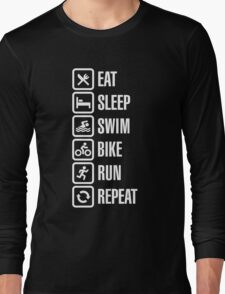 Eat sleep swim bike run repeat - triathlon T-Shirt