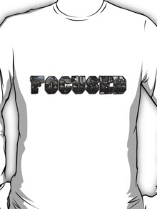 Focused with gym weights  T-Shirt