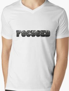 Focused with gym weights  Mens V-Neck T-Shirt