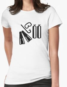 Diving equipment Womens Fitted T-Shirt