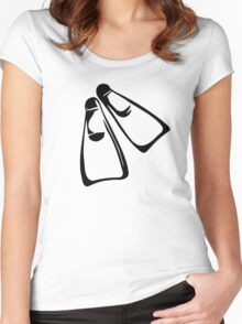 Diving fins Women's Fitted Scoop T-Shirt