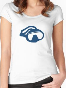 Diving goggles glasses Women's Fitted Scoop T-Shirt