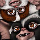 Daffy and Mohawk Mogwais by Art-by-Aelia