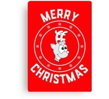 Rudolph's Merry Christmas Logo Canvas Print