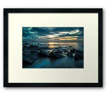 Saundersfoot at dawn Framed Print