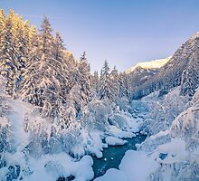Winter in the alps by Thomas Zagler