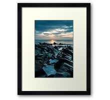 Saundersfoot sunrise Framed Print