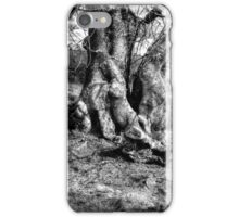 A Tree in a Pool of black and white Light iPhone Case/Skin