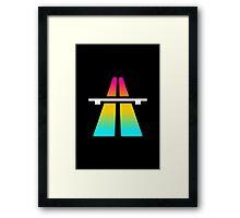 Rainbow Roadsign Framed Print