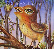 Sparrow with Nests by Cindy Schnackel